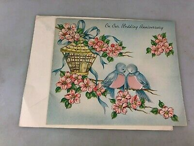 Vintage - Greeting Card - Wedding Anniversary Card With Envelope - Not Used