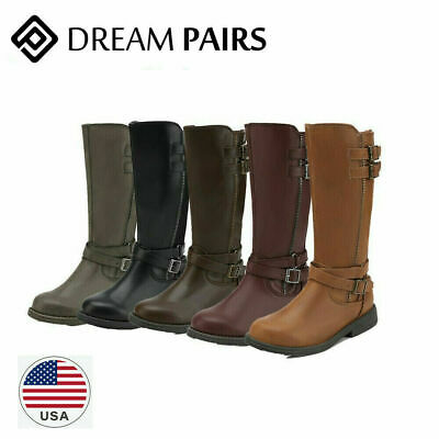 DREAM PAIRS Baby Toddler Girl's Boys Dress Up Fashion Flat Knee High Boots Shoes