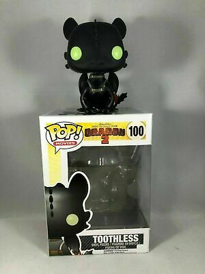 Toothless #100 Dreamworks How To Train Your Dragon 2 Funko Pop + Soft Protector