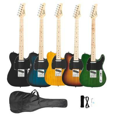 New 5 Colors Glarry GTL Maple Fingerboard Electric Guitar with Bag Set