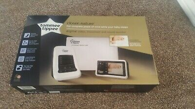 Tommee Tippee Digtial Video Movement Baby Monitor Closer to Nature Used twice