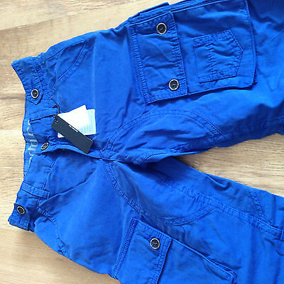 boys age 9 Roberto Cavalli Devils blue cotton shorts tagged £89.9 100% authentic