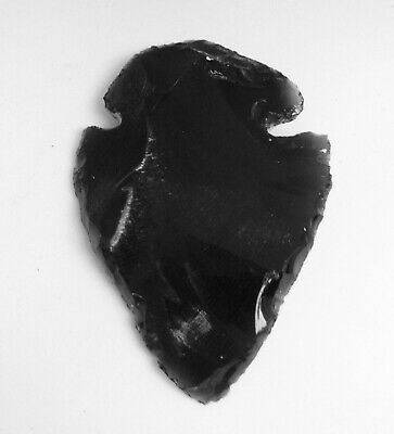 Large Ancient OBSIDIAN ARROWHEAD  Carved Healing Crystal Volcanic