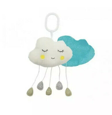 ANNABEL TRENDS Plush Cloud MUSICAL Mobile Blue Baby Toddler Nursery Gift