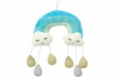 ANNABEL TRENDS Plush Cloud Mobile BLUE Baby Toddler Nursery Gift