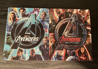 Marvel's The Avengers and Age of Ultron SteelBook (4K Ultra HD/Blu-Ray) MINT!