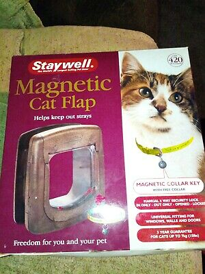 Selective Petsafe Staywell Deluxe Magnetic 4 Way Locking Cat Flap White