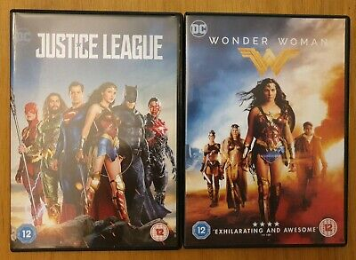 JUSTICE LEAGUE / WONDER WOMAN (2 x DVD, 2018) DC Aquaman Superman Batman