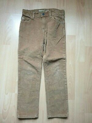 Gap Boys Corduroy Slim Trousers Brown Size 7 Years