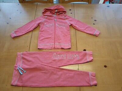 Lelli Kelly Designer Girls Pink Hooded Jacket, Joggers Outfit Size 6 - 7 Years
