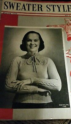 1937 Pattern Booklet Sweater Styles Book 106