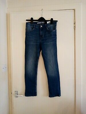 Boys H&m Lined Skinny Fit Jeans Age 11-12 Years