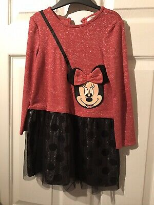 Disney Minnie Mouse Asda George Party Dress Age 4-5