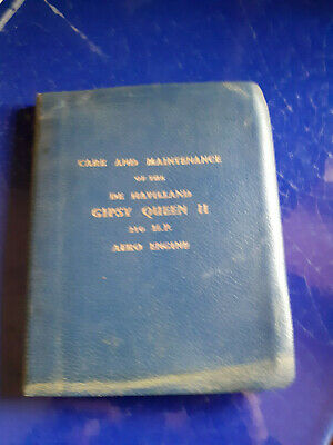DE HAVILLAND Gipsy SIX 200hp Aero Engine Care and Maintenance Manual amendments