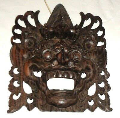 Vintage Wall Hanging Tribal Art Hand Carved Wood Face Wooden Mask