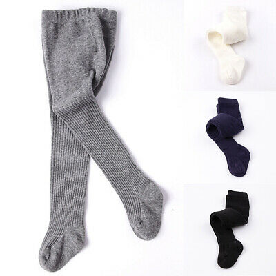 Toddler Baby Kids Girls Boys Pure Color Cotton Socks Hosiery Pantyhose