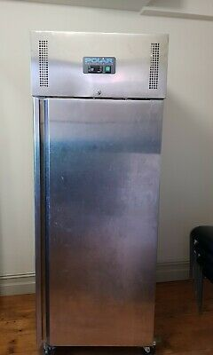 Polar 650L Upright Commercial Freezer on wheels