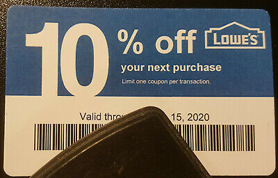 Twenty (20) LOWES Coupons 10% OFF At Competitors ONLY notAt Lowes Exp Nov15 2020
