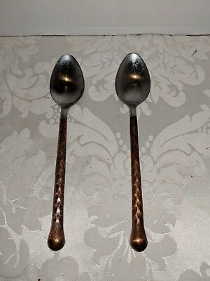 Gibson Campanile Copper Handle Spoons set of 2