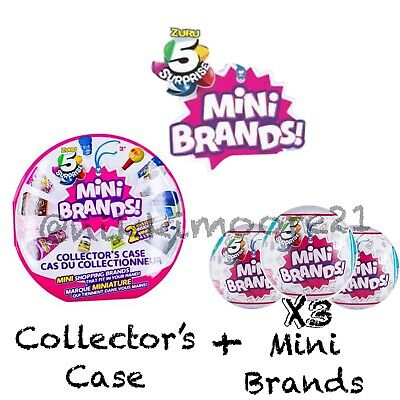 5 SURPRISE! Made By ZURU! Mini Brands Balls +Collectors 100% REAL AUTHENTIC-NEW