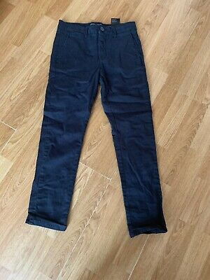 Boys Blue Skinny Comfort Fit Stretch Trousers From H&M Size 9-10 Years 140cm