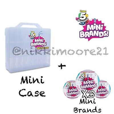 5 SURPRISE! Made By ZURU! Mini Brands Balls+Storage Case 100% REAL AUTHENTIC-NEW