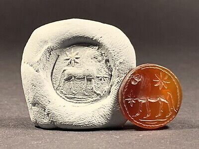 Ancient Roman Carnelian Intaglio Seal Stone Depicting Legion Horse Circa. 100Ad