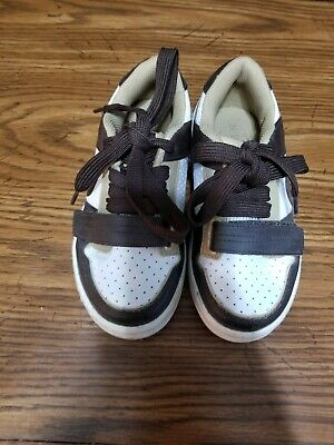 The Childrens Place Kids Boys Brown and White shoes size 12