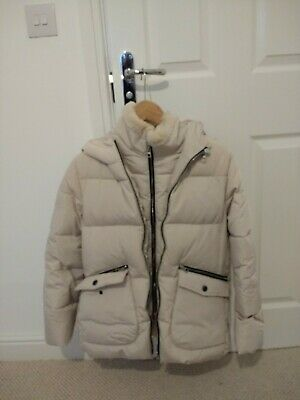 Zara Girls Cream Puffa Padded Jacket Coat 13/14yrs
