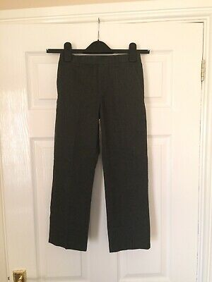 Boys Kids Grey School Trousers age 6-7 Excellent Condition Hardly Worn