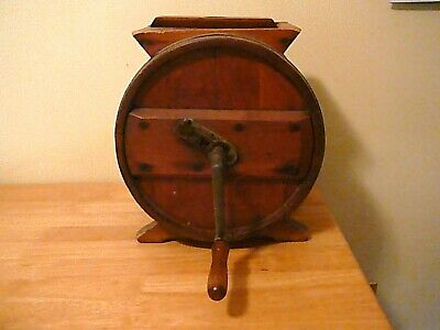 Antique Old Wooden Hand Crank Butter Churn Works Fine, Clean