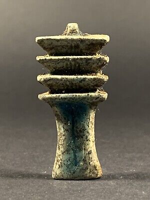 Beautiful Ancient Egyptian Faience Djed Pillar Amulet - Circa. 700 - 330 Bce