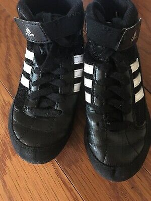 YOUTH ADIDAS Wrestling SHOES SZ 12 K KIDS BLACK