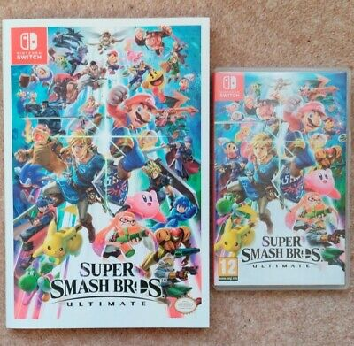 Super Smash Bros. Ultimate game and official Prima guide for Nintendo Switch