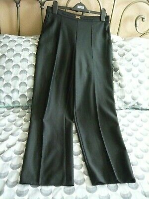 M&S Black With Gold Pin Stripe Trousers Size 12 short  Ideal Christmas