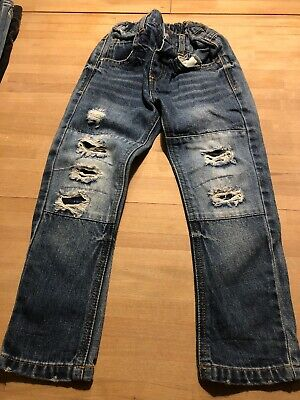 Boys Light Wash Ripped Jeans Age 3-4
