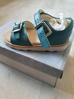 Girls Clarks Blue Sandals Bnib Rrp £35 Size Uk 6 F Fit
