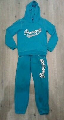 Pineapple Girls Turquoise 2 Piece Hooded Tracksuit Age 9-10 Years