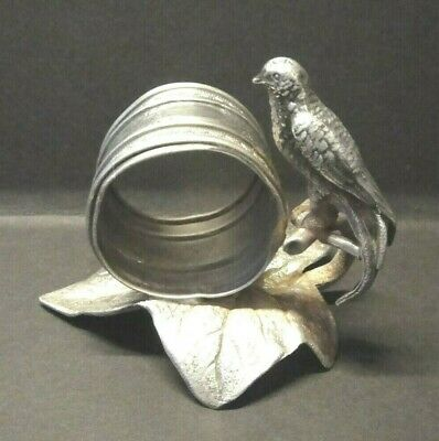 Antique Rogers Smith Co Meriden Silver Bird Napkin Ring Victorian