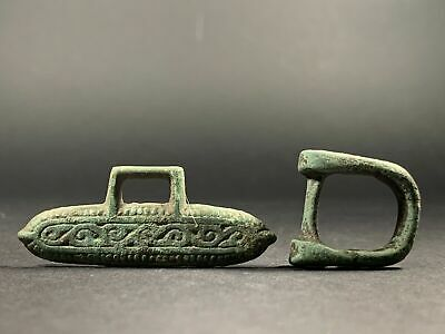 Detailed Ancient Viking Bronze Strap End & Belt Attachment Metal Detecting Find