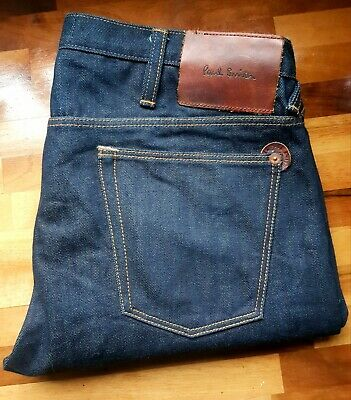 Paul Smith Tappered Dark Blue Jeans Size W32 L30 Excellent Condition