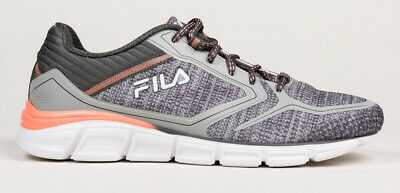 WOMENS FILA ASPECT Energized Memory Foam Running Shoes Gray