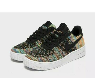 NIKE AIR FORCE 1 FLYKNIT 2.0 (GS) Girls TRAINERS SIZE Uk 4 BV0063 002 Genuine