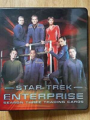 Star Trek Enterprise Season Three Trading Cards Binder, Costume Card Auto Cards