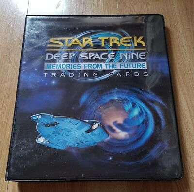 Star Trek Deep Space Nine Memories from the Future Trading cards Binder,