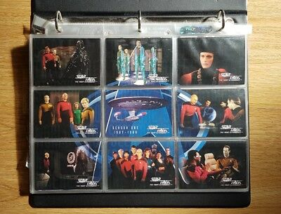 Star Trek The Next Generation Season 1 One Trading Cards Base Set & Chase cards