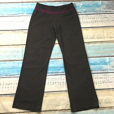 Nike Womens Pants sz Medium Brown Pull On Yoga Athleisure Bootcut Silky Stretch