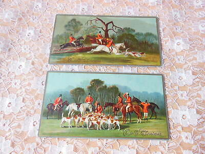Victorian Christmas Cards/Hunting Scenes/Raphael Tuck