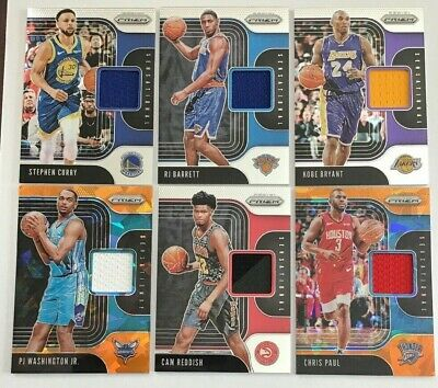 Pick your cards - Lot - 2019/20 Panini Prizm Basketball Sensational Swatches