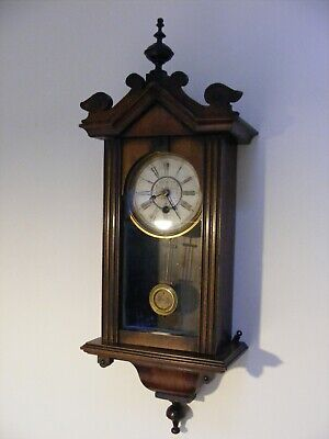 Antique/19th century German/Vienna Wall Clock, in working condition